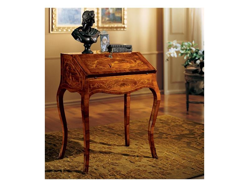 Complements writing desk 830, Écrire un bureau en bois avec capote, style classique