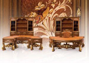 Composition Art.6930, Mobilier classique, bureau, sculptures magnifiques, beaux matériaux