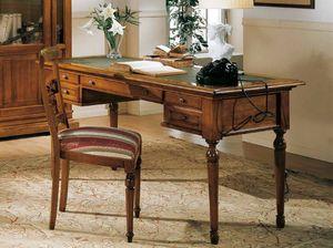 San Marco Bureau, Bureau classique avec plateau en cuir