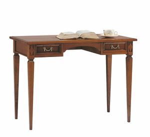 Villa Borghese bureau 6376, Bureau en bois avec tiroirs, style Directoire