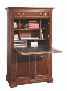 Villa Borghese Secretaire 6375, Cabinet avec rabat en cuir