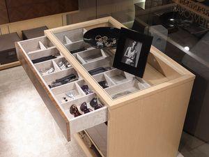 AR25C, Cabinet island pour dressing, avec tiroirs