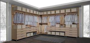 Armoire 23, Walk-in, modulaire, avec des tiroirs sur roulettes