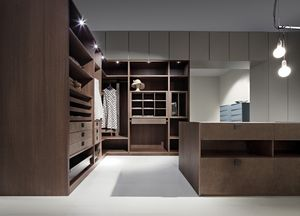 ATLANTE dressing comp.03, Salle de garde-robe moderne, optimisation de l'espace