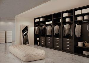 ATLANTE dressing comp.07, Armoire en chêne gris, mesures personnalisables