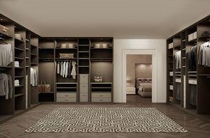 ATLANTE dressing comp.08, Armoires de chambre à coucher en chêne, optimisation de l'espace