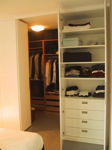 Cabine vestiaire pour chambre et couloir, Placard personnalisé pour couloir et la chambre