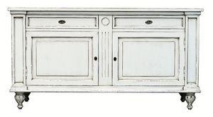 Mélanie BR.0007, Buffet avec 2 portes et 2 tiroirs, style Louis XIV