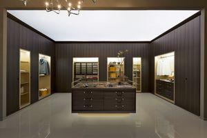 VENICE comp.02, Walk-in closet, modulaire, avec des détails en cuir