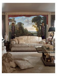 Caprice of italian landscape – SP 100, Grande peinture à l'huile sur toile