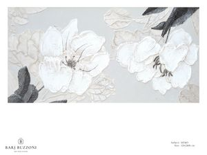 Delicate flowers with leaves - MT483, Tableau floral avec effet bas-relief
