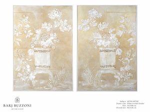 Delicate orient feeling I-II – MT 391-392, Peinture à effet bas relief
