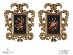 Flowers with vase – H 3898-3899, Peintures à l'huile florales