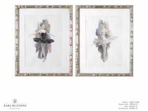 L�Etoile - The ballet dancer - AQ45 - AQ46, Peinture � l'aquarelle avec danseuse