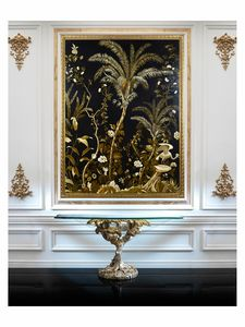 Lush exotic nature – H 3554, Peinture à l'huile sur toile