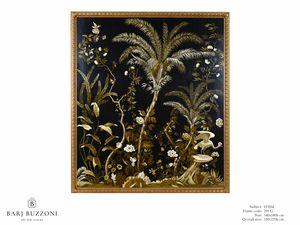 Lush exotic nature – H 3554, Peint sur toile, avec une nature exotique