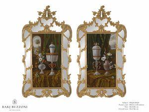 Murano goblet recollection – SP 428-429, Peinture à l'huile, avec cadre miroir