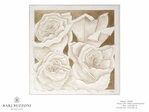 Roses, golden dream – MT 491, Photo avec des roses, effet bas relief
