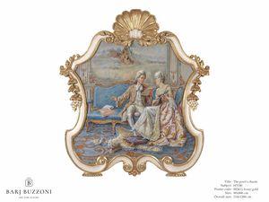 The poet's charm – H 3740, Peinture de style classique, avec cadre sculpté