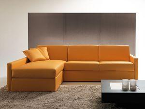 Afrodite péninsule, Canapé-lit avec rangement et de la péninsule, pour l'appartement
