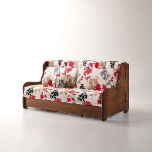 Arcimboldo, Canapé-lit avec revêtement amovible, style rustique