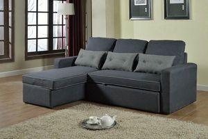 Canapé Convertible d'Angle 3 places pour les salles de séjour SMERALDO - SADIZ712TEGS, Canapé-lit d'angle