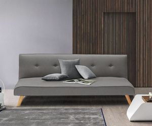 Canapé-lit convertible 2 places LARIMAR en tissu pour le salon et le séjour - DI3240FGC, Canapé convertible en lit
