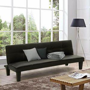 Canapé-lit convertible TOPAZIO LIVING petit en simili-cuir 2 pièces - DI1706LIVN, Canapé-lit idéal pour les petits appartements