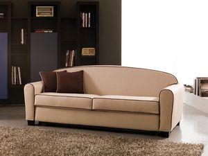 Narciso, Canapé-lit double, tissu amovible, matelas à ressorts