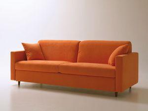 Voyager, Canapé-lit, avec une ouverture pivotante d'économie d'espace, tissu amovible