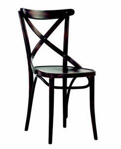 350 Croce, Chaise en bois avec dossier transversal