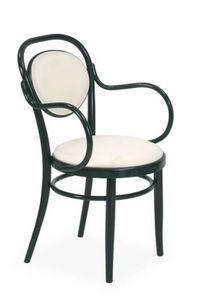 V14P, Chaise en bois courbé rembourré