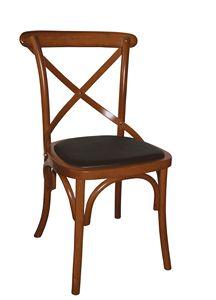 V17, Chaise Bentwood avec assise rembourrée