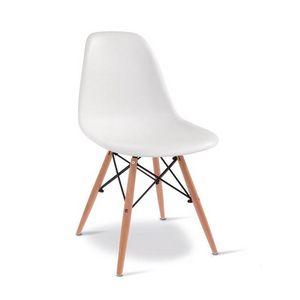 D10, Chaise en bois avec coque en plastique