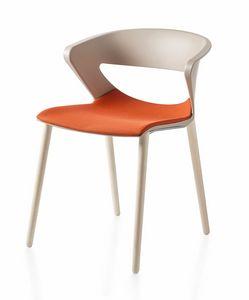 Kicca, Chaise en polypropylène avec pieds en bois