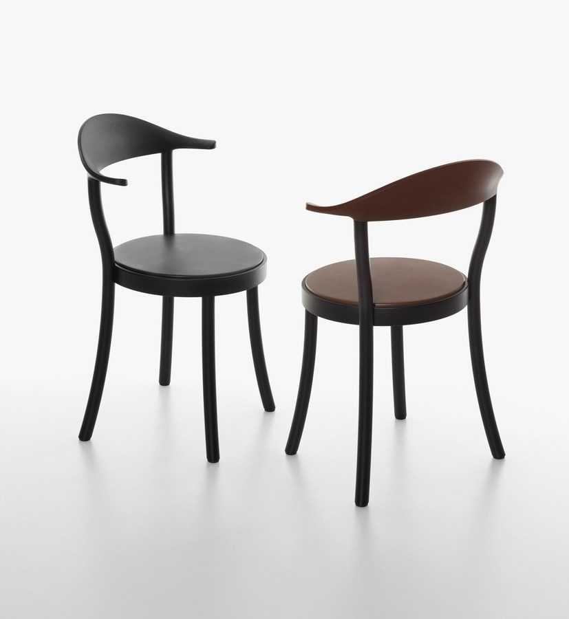 chaise avec si ge rond en h tre et en plastique idfdesign. Black Bedroom Furniture Sets. Home Design Ideas