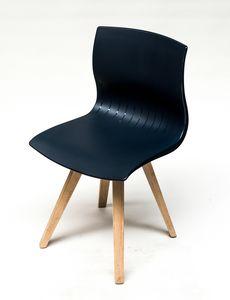 WEBBY 333U, Chaise avec pieds en hêtre, coque en nylon