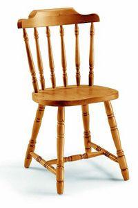 107 old America, Chaise en pin, avec un design traditionnel