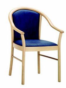 230 Bettina, Chaise en bois pour hôtels et restaurants