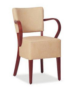 326, Chaise avec grand siège rembourré, avec accoudoirs