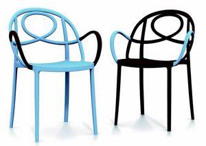 9663 Etoille, Chaise d'extérieur empilable avec accoudoirs