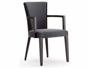 Ada-P, Chaise avec accoudoirs, rembourrée