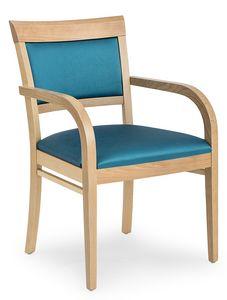 Anna XL ARMS, Chaise rembourrée confortable avec accoudoirs