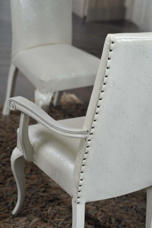 Art. 103, Chaise de salle à manger avec accoudoirs, style classique