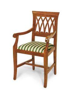 Art. 119/A, Chaise classique avec accoudoirs, assise rembourrée