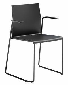 Artesia SS, Chaise avec accoudoirs, piètement luge