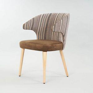 BS558A - Chaise, Chaise rembourrée avec accoudoirs