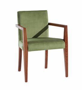 C03BP, Chaise en bois avec accoudoirs