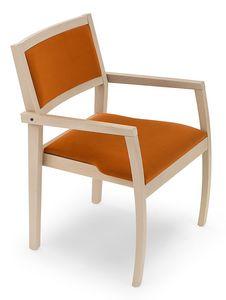 Gamma ARMS, Chaise en bois avec accoudoirs