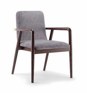 GRACE LOUNGE CHAIR 074 P, Chaise en bois avec accoudoirs